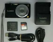 Panasonic LUMIX DMC-FS16 14.1MP Digital Camera - Black + 8 GB Memory Card