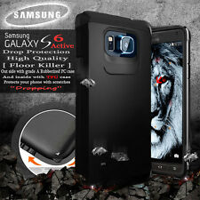 Black Shockproof Case Premium Cover SAMSUNG GALAXY S6 Active Waterproof Phone