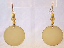 NEW WITH TAGS CATO LIGHT GREEN OPAQUE ACRYLIC DROP DANGLE HOOK PIERCED EARRINGS