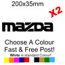 Mazda Decal Racing MX5 Brakes Exhaust sticker decal car van vinyl funny x2
