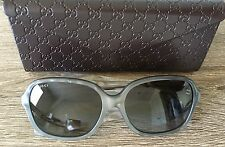 NIB | Gucci Sunglasses | Gray Marble Frame with Logo Temple | Italy