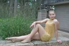 Dance costume tap jazz musical theater  gold  adult large