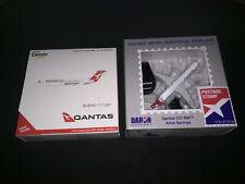 2 QANTAS MODEL PLANES  QANTAS B737 &  QANTASLINK 717