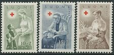 Finland 1954 MNH Red Cross Finnish welfare - Scott B123-125