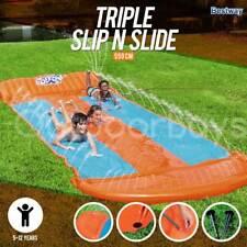 Bestway H2OGo Triple Slip N Slide Toy | Backyard Lawn Kids Waterslide Inflatable