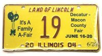 Illinois 2004 Balloons Old License Plate Garage Special Event Tag County Fair