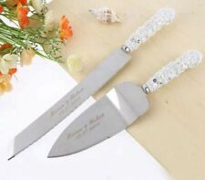 Personalized Wedding Cake Knives Serving Set Custom Resin Cakes Knife And Shovel