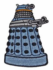 """DOCTOR WHO Blue DALEK 3"""" Tall Embroidered Costume Patch"""