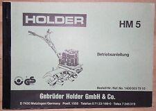 Holder Betriebsanleitung HM 5