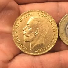 RESTRIKE 1911 George V Double Sovereign £2 Coin King Gold Plated