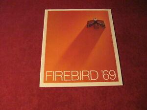 1969 Pontiac Firebird Sales Brochure Original Old Booklet Book Catalog