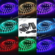 5050 SMD Black PCB 5M RGB 300led Waterproof Flexible Light Strip+44Key+5A Power