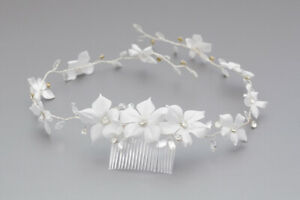 WG 39 flower crown First Holy Communion wianek komunijny galazka hair band