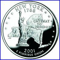 Quarter Dollar New York 2001 D Unc./ .2410071m