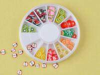 Fancy Nail Art Wheel Manicure 3D Fruit Slice Acrylic Decoration High Quality