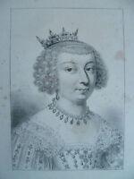 XIX Gravur Anonym Porträt Royal Figur Schwierigkeiten Ballig