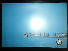 Original Prospekt Sales Brochure BMW 3200 CS Technische Daten Achtzylinder