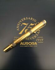 New ListingAurora 75th Anniversary Limited Ed. Gold Vermeil Fountain Pen No 1541/1919 Bnib!