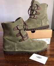 Ugg Elvi Women Boots Spruce Size 11 Very Nice NEW* AUTHENTIC With Box