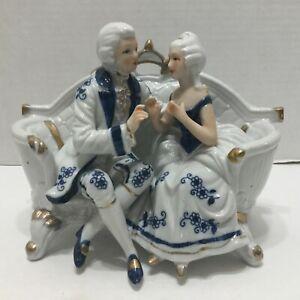 Vintage KPM Figurine Victorian Couple On Sofa