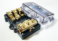 MINI ANL - GOLD FUSEHOLDER (3) 4GA In (3) 8GA Out