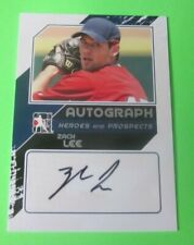 2011 In the Game Heroes & Prospects Draft Year Silver Version  Zach Lee Auto