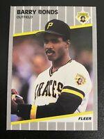 1989 Fleer Barry Bonds Card #202 MINT