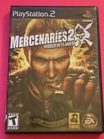 🔥SONY PS2 PlayStation Two 💯COMPLETE WORKING GAME MERCENARIES 2 World In Flames