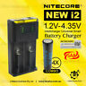 Nitecor New i2 Charger + 4x 2500mAh 20A Lithium Rechargeable 18650 Battery