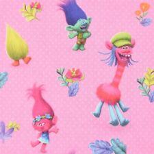 Gardinenstoff Verdunklungsstoff Blackout Trolls pink 1,50m Breite