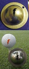 1 only TIN CUP GOLF BALL MARKER - THE LIGHTENING BOLT  EASY  & YOURS FOR LIFE