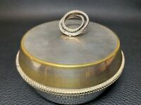 Antique 1900's Old Sheffield Silver Plated Trinket Box Ornate Jewellery Pot