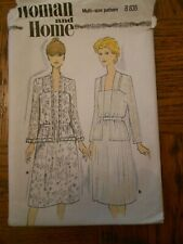 WOMAN AND HOME B835 JACKET AND DRESS VINTAGE