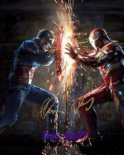 Captain America Civil War Cast 10x8inch Pre-Print Signed Autographed Photo N2