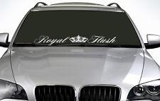 90cm royal flush toute couleur pare-brise autocollant euro jdm drift voiture autocollant vinyle