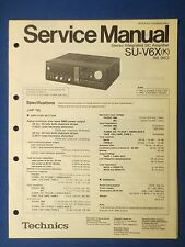 TECHNICS SU-V6X INT AMP SERVICE MANUAL ORIGINAL FACTORY ISSUE THE REAL THING