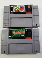 2 Game SNES Super Nintendo Lot - Cool Spot and Jungle Book - TESTED