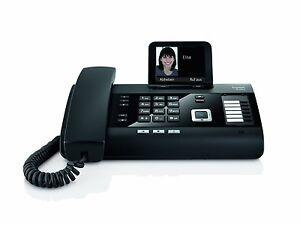 Gigaset DL500A schnurgebundenes Telefon mit Anrufbeantworter schwarz