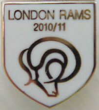 Derby County officiel 2010-11 London Branch Supporters Club badge 14 mm x 16 mm