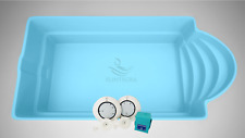 GFK Schwimmbecken Pool 6,1 x 3,7 x 1,5 Hersteller Einbaubecken GFK Pool Spanien