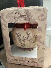 Lovely Classic Scottish Bauble Christmas Decoration Bauble Gift Souvenir