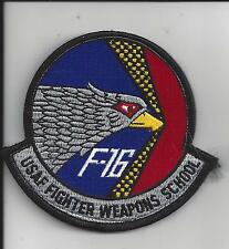 PATCH USAF FIGHTER WEAPONS SCHOOL F-16 VER 2  NELLIS AFB                      J