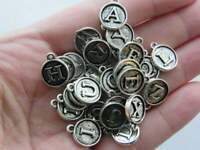 4 Wave charms antique silver tone SC134