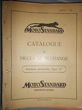 Motostandard motoculteur machine universelle type U 1955 : catalogue de pièces