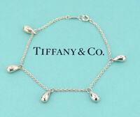 TIFFANY&Co Teardrop Chain Link Bracelet Peretti Silver 925 w/BOX v1399