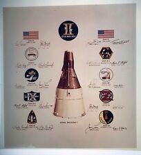 GEMINI / Orig 4x5 NASA Issued Transparency - Mission Emblems