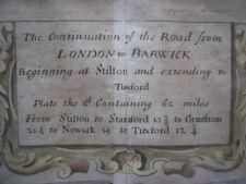 John Ogilby Strip Map: Stilton to Tuxford: London to Barwick:  Britannia 1675