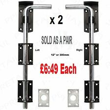 2 x HEAVY DUTY STABLE  DROP BOLT   FOR DOOR GATE GARAGE SHED SLIDING PADBOLT