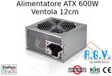 Alimentatore interno ATX 600W 230V switching per computer ventola silenziosa 12c