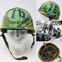 VERY RARE Scopes Vietnam War US M1 Training Helmet 1962 Dated Firestone Relic